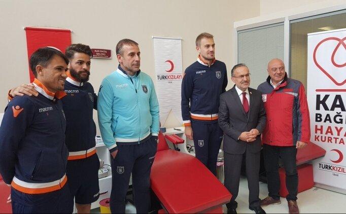 Başakşehir'den 'Kan ver hayat kurtar' kampanyasına destek