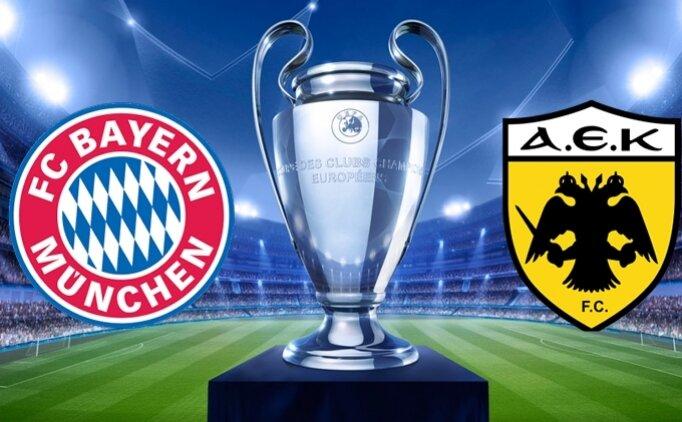Bayern Münih AEK maçı canlı hangi kanalda saat kaçta?