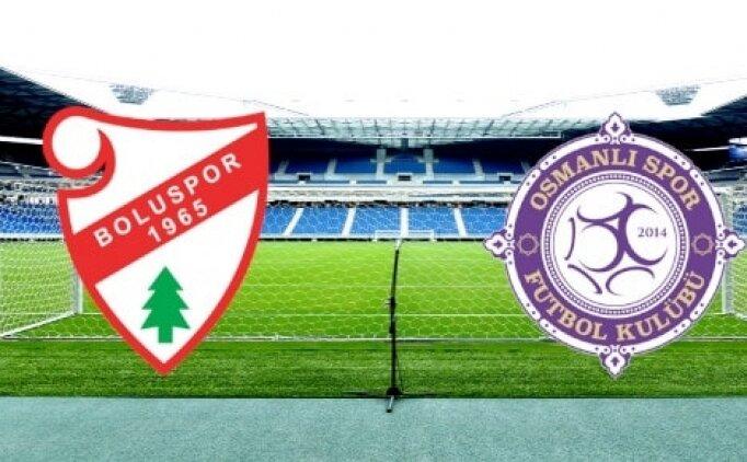 Boluspor Osmanlıspor maçı CANLI saat kaçta hangi kanalda?