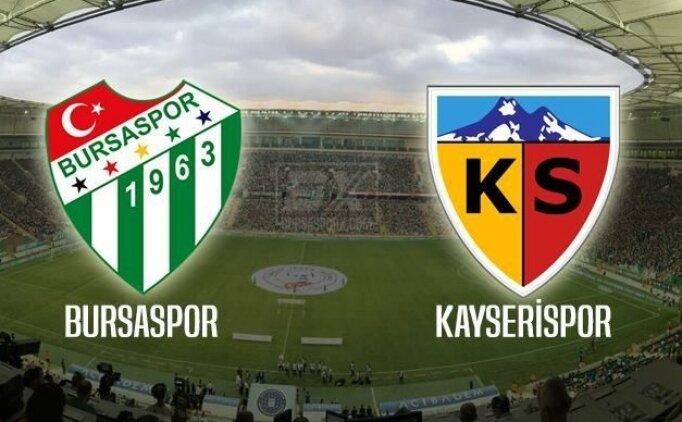 Bursaspor Kayserispor maçı CANLI saat kaçta hangi kanalda?