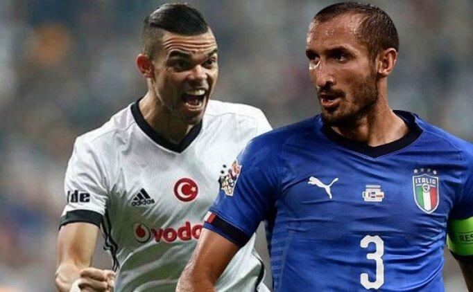 Chiellini: 'Pepe'nin Beşiktaş'ta olmasına şaşırdım'