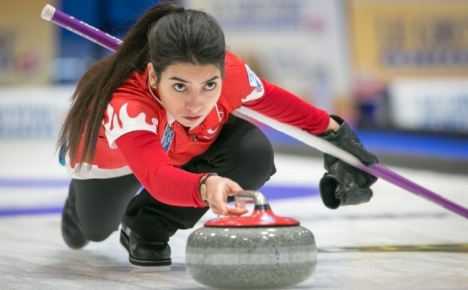 Milli curling takımından tek galibiyet geldi