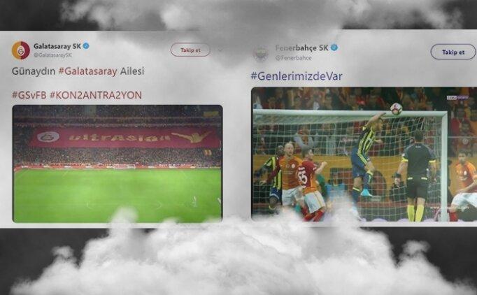 Galatasaray - Fenerbahçe derbisi öncesi Twitter'da videolu kapışma