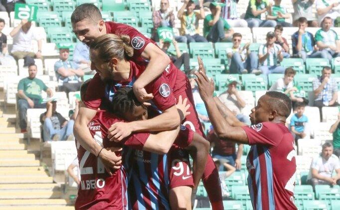 Trabzonspor, Bursa'dan 3 puanla dönüyor