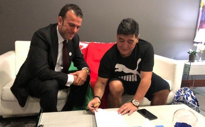 Maradona hem teknik direktör hem başkan oldu!