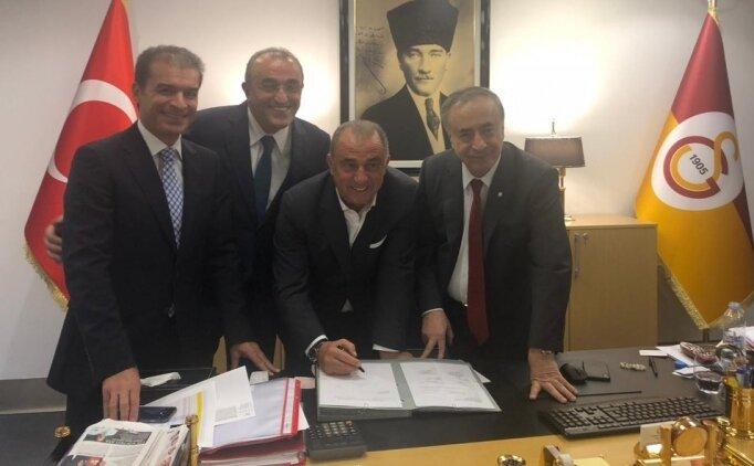 Galatasaray'da Fatih Terim boş sözleşmeyi imzaladı