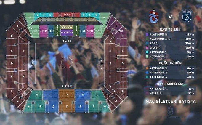 Trabzonspor'da Başakşehir maçı biletleri satışta