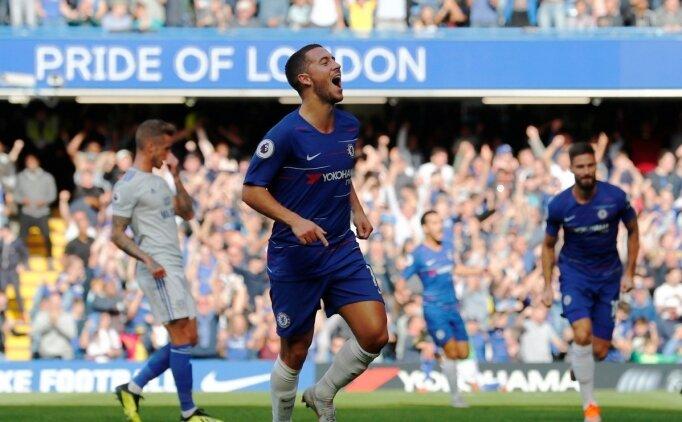 Eden Hazard coştu, Chelsea farklı kazandı!