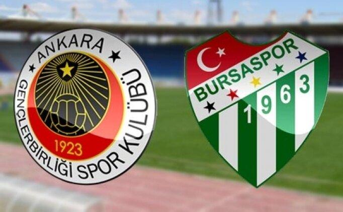 Gençlerbirliği Bursaspor maçı canlı hangi kanalda? Gençlerbirliği Bursa saat kaçta?