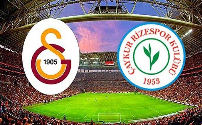 ÖZETLER Galatasaray 2-2 Rizespor maçı detayları