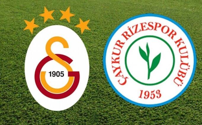 Galatasaray 2-2 Rizespor maçı golleri ve geniş özeti izle