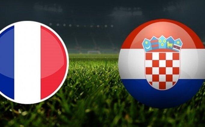 Hırvatistan Fransa Canlı izle TRT 1, Hırvatistan Fransa maçı saat kaçta?