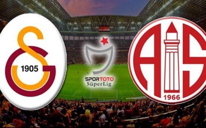 Galatasaray muhtemel 11'i | Galatasaray Antalyaspor maçı saat kaçta?