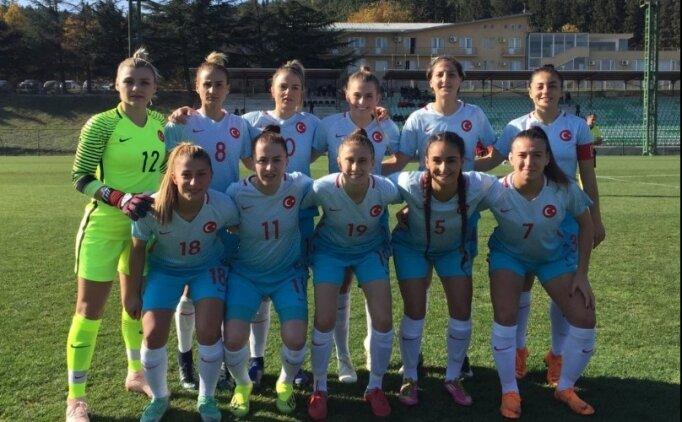 A Milli Kadın Futbol Takımı, Gürcistan'ı devirdi