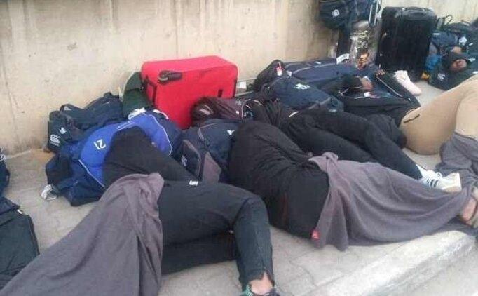 Zimbabwe Milli Takımı, sokakta yattı!