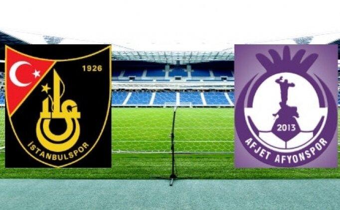 İstanbulspor Afjet Afyonspor maçı CANLI saat kaçta hangi kanalda?
