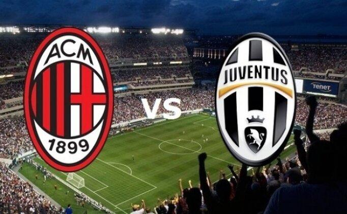 Milan Juventus maçı canlı hangi kanalda saat kaçta?