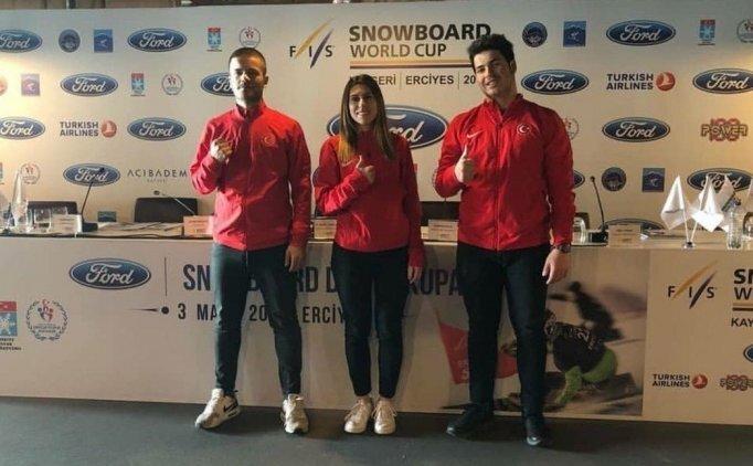Dünyanın en iyi snowboardcuları Erciyes'te