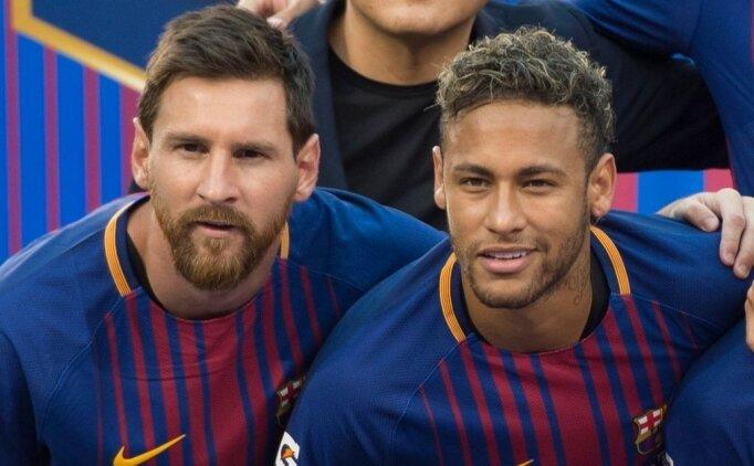 Messi'den Neymar transferi yorumu: ''Madrid'de görmek korkunç olur!''