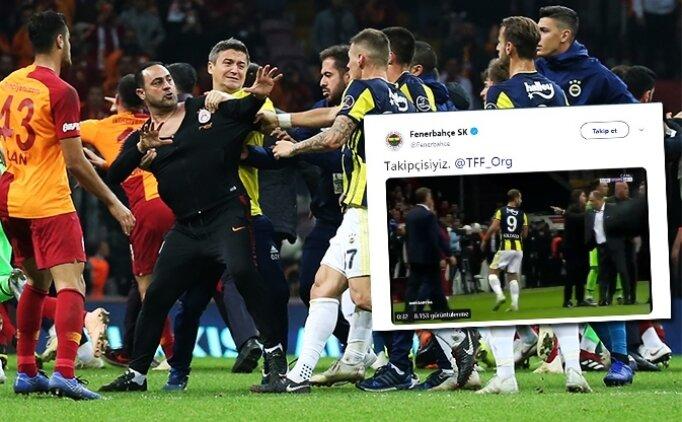 Fenerbahçe'den TFF'ye Galatasaray için paylaşım