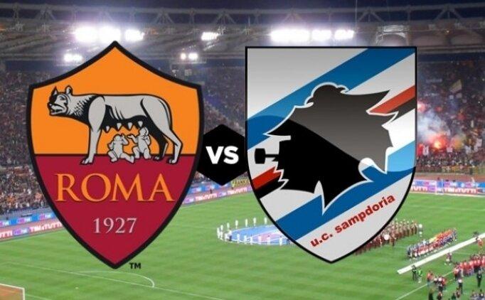 Roma Sampdoria maçı canlı hangi kanalda saat kaçta?