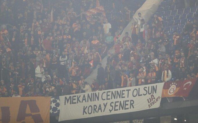 Galatasaray'dan Koray Şener için anlamlı pankart!