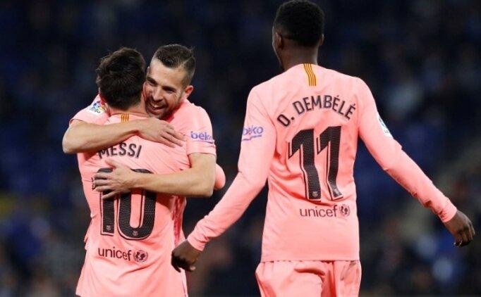 Katalan derbisinde Barcelona'dan gol şov!