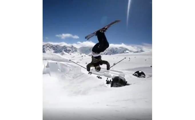 Süperman kayakçı olsaydı böyle olurdu