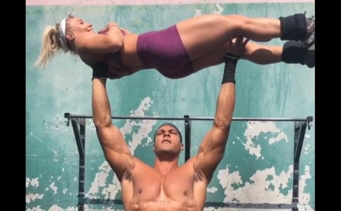 Sevgili ile sabah sporunda çıtayı arşa taşımak