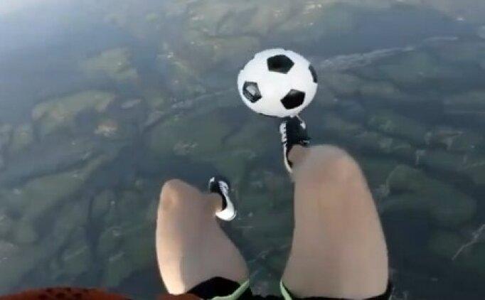 Yüzlerce metre yüksekte freestyle şov