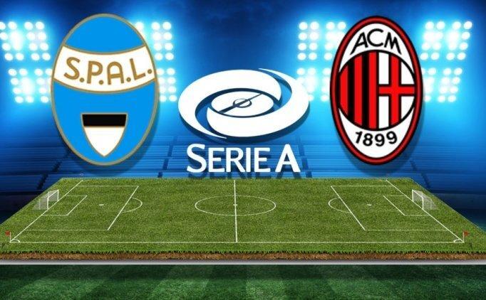 SPAL Milan maçı CANLI hangi kanalda saat kaçta?