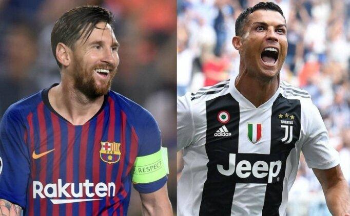 Şampiyonlar Ligi'nde Ronaldo ve Messi tarihe geçti!