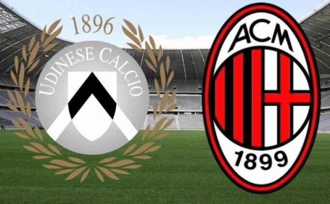 Udinese Milan maçı canlı hangi kanalda saat kaçta?