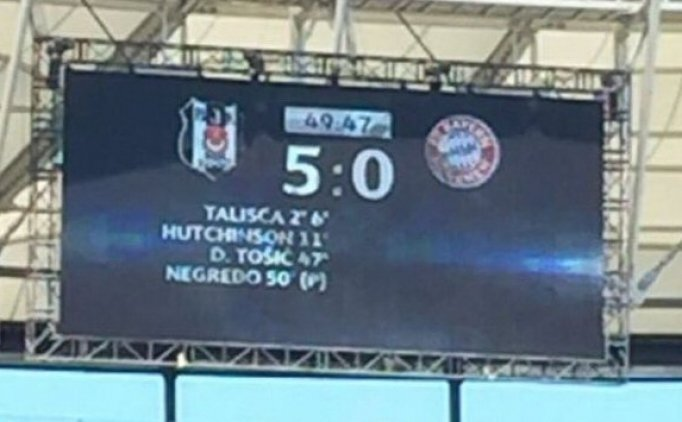 Vodafone Park'ta skorbord; Beşiktaş 5-0 Bayern Münih