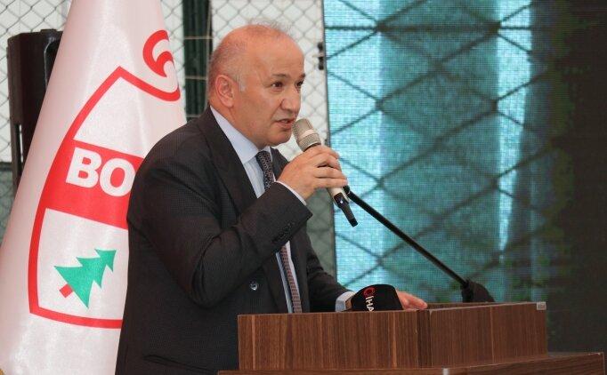 Boluspor Kulübü Başkanı Çarıkcı, güven tazeledi