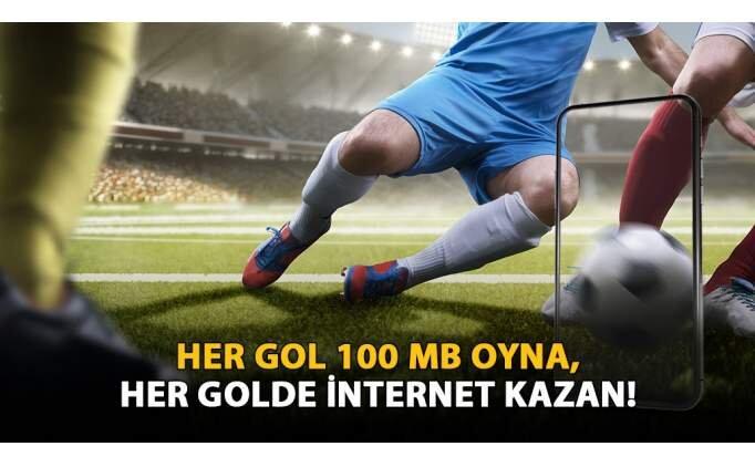 İnternetin bitiyorsa hemen 'Her Gol 100MB' oyna!