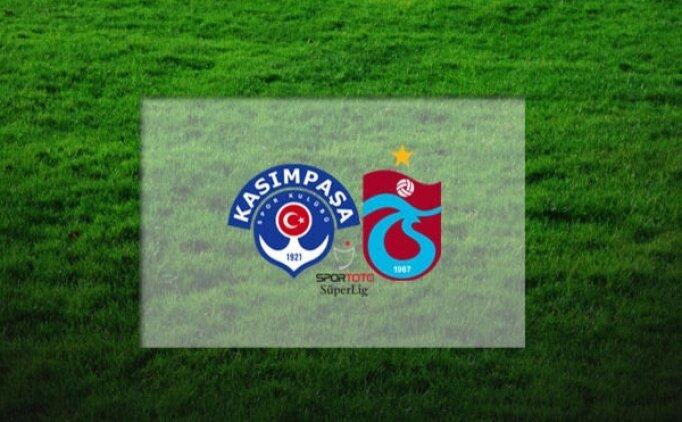 Kasımpaşa Trabzonspor canlı hangi kanalda? Kasımpaşa Trabzonspor maçı saat kaçta?