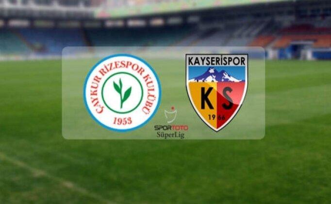 Rizespor Kayserispor canlı hangi kanalda? Rizespor Kayserispor maçı saat kaçta?