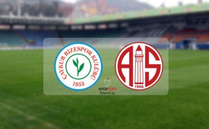 Rizespor Antalyaspor maçı canlı hangi kanalda? Rizespor Antalyaspor maçı saat kaçta?