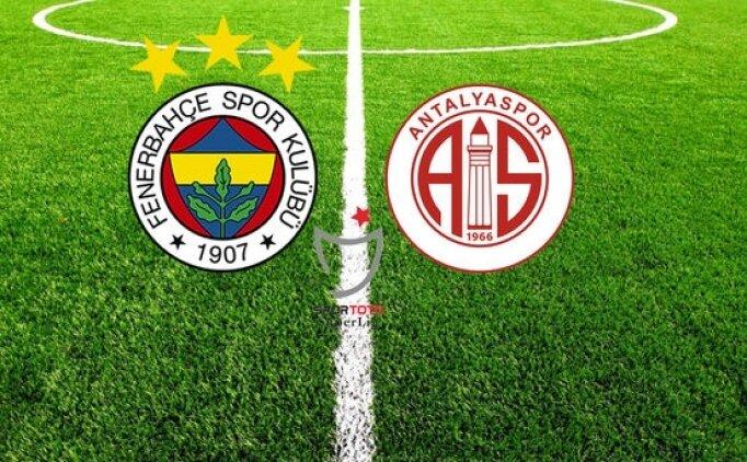 Fenerbahçe Antalyaspor maçı hangi kanalda? Fenerbahçe Antalyaspor saat kaçta?