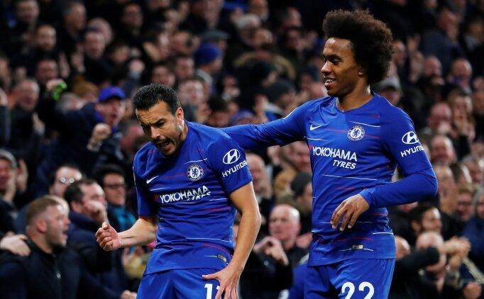 Chelsea zorlandı, Willian kazandırdı