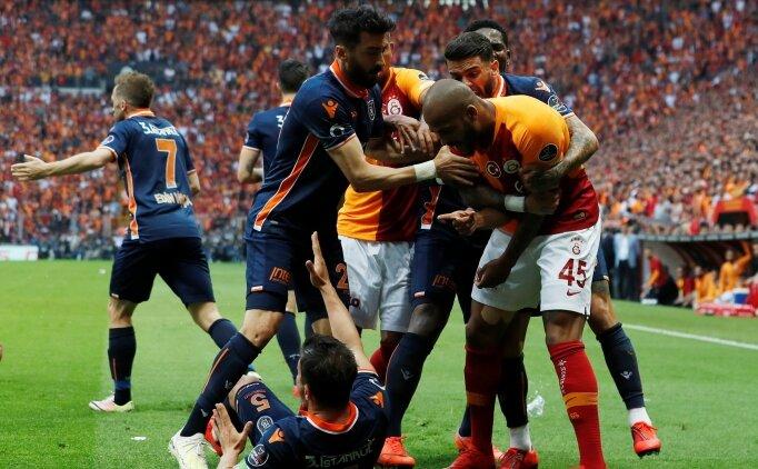 Başakşehir- Galatasaray maçında  gol sonrası olay çıktı!
