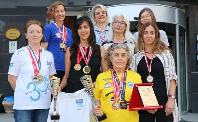 'Bozkırın kadınları' açık denizde madalyaya doymuyor