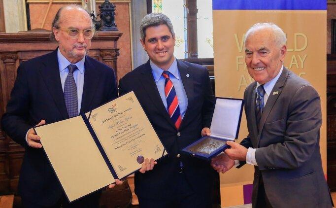 Altınordu Kulübü Başkanı Özkan'a 'Will Daume Fair-Play Ödülü'
