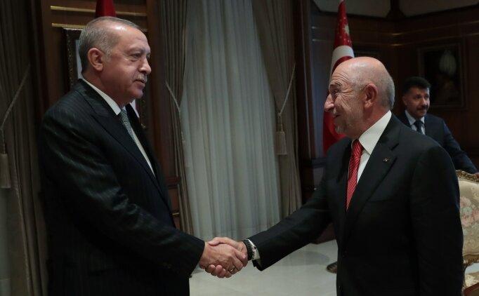 Cumhurbaşkanı Erdoğan'ın TFF kabulü