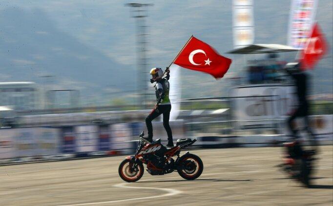 Motosiklette Avrupa Akrobasi Şampiyonası heyecanı