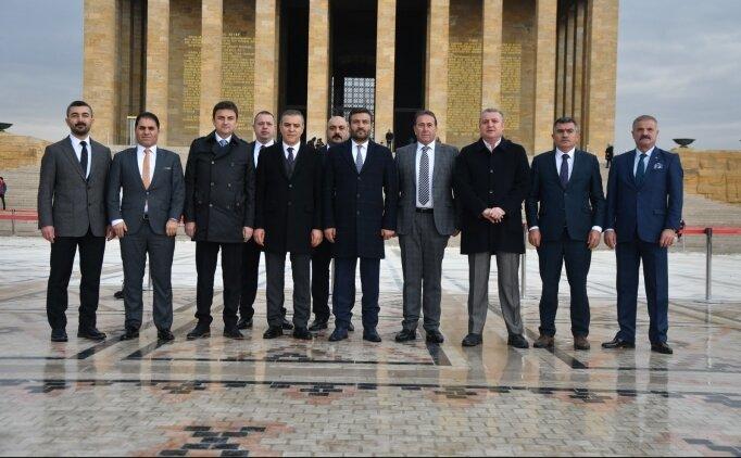 Ankaragücü'nün yeni yönetiminden Ata'ya ziyaret
