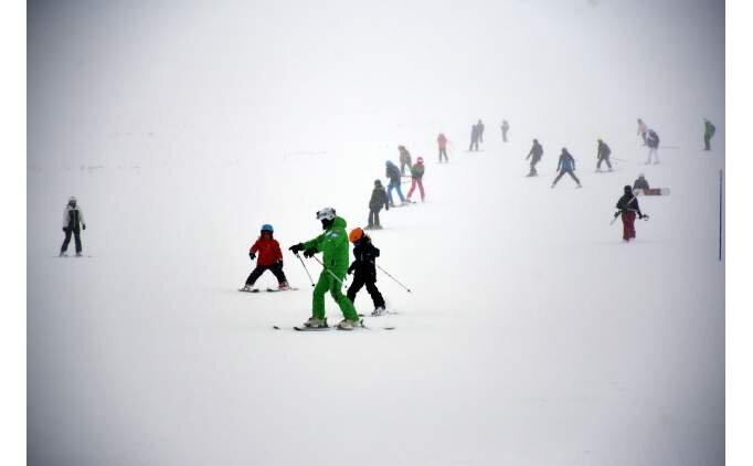 Erciyes Kayak Merkezi'nde kar kalınlığı 1 metreye ulaştı