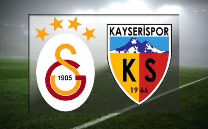 Galatasaray Kayserispor maçı canlı hangi kanalda? Galatasaray Kayserispor saat kaçta?
