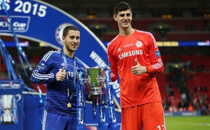 Courtois'dan Eden Hazard'a transfer çağrısı!
